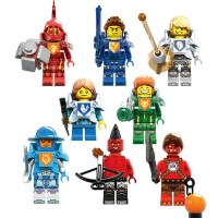 2016-8PCS-LOT-NEXO-font-b-Knights-b-font-Royal-Soldier-Lance-Crust-Smasher-Minifigures-font